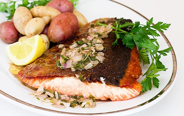 One-Sided Crispy Salmon Recipe