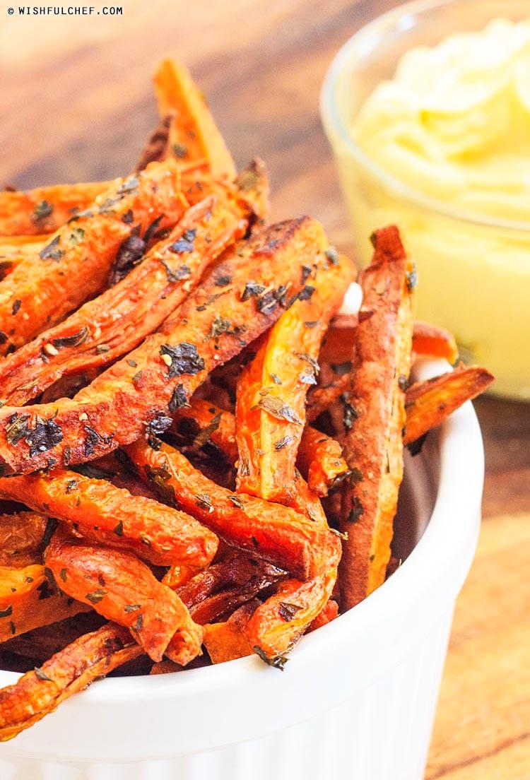 Baked Sweet Potato Carrot Fries