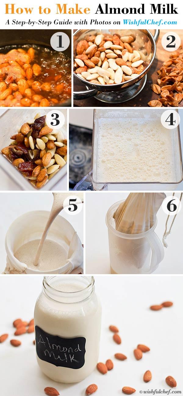 Almond Milk steps