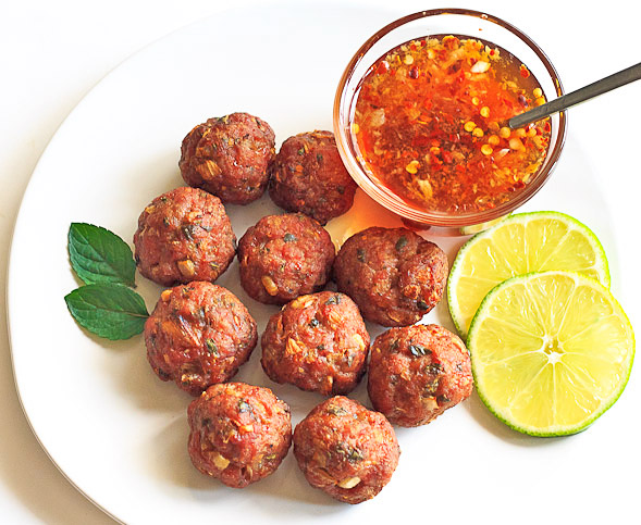 Baked Vietnamese Meatballs