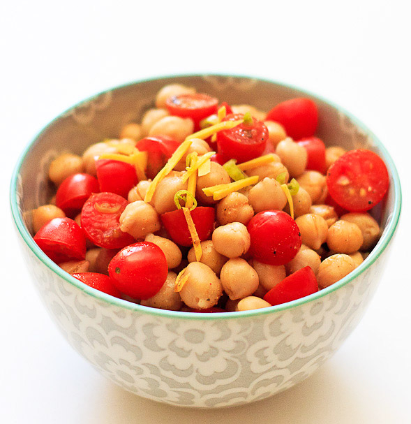 Chickpea Salad with Ginger and Tomatoes
