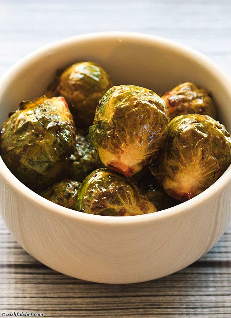Brussels Sprouts Orange Ginger Soy