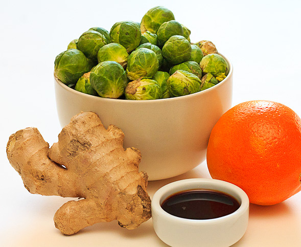 Brussels Sprouts Orange Ginger Soy ingredients