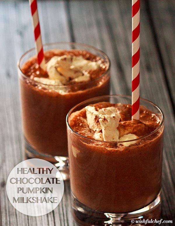 Healthy Chocolate Pumpkin Milkshake