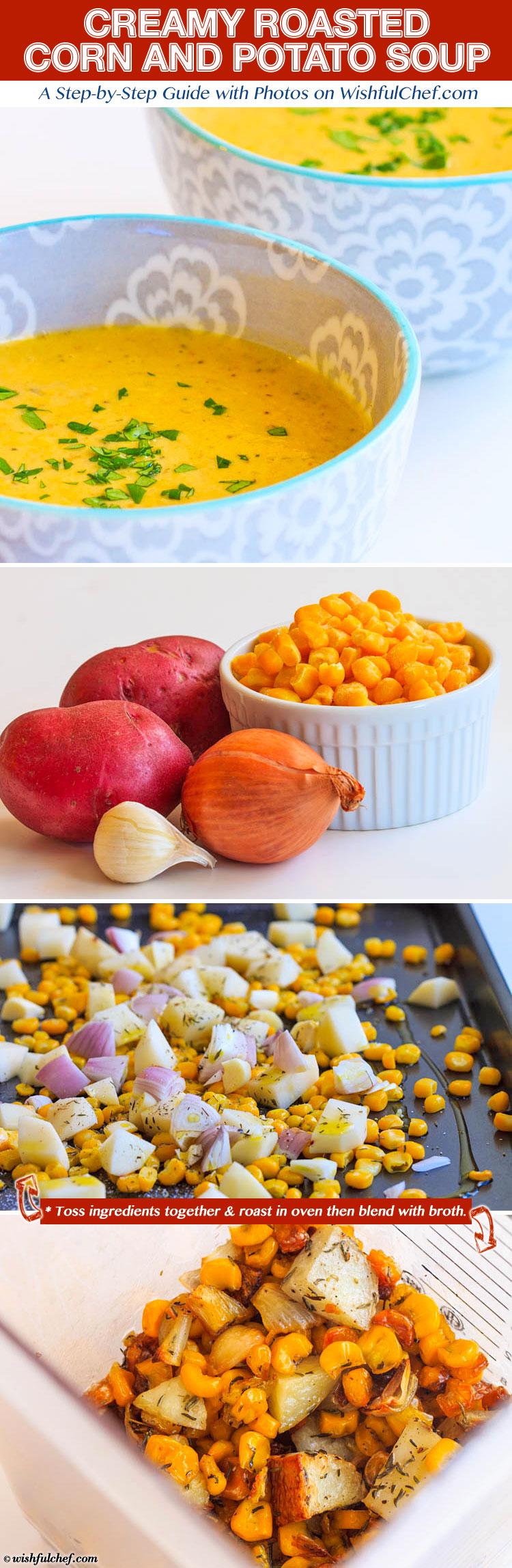 Creamy Roasted Corn Potato Soup
