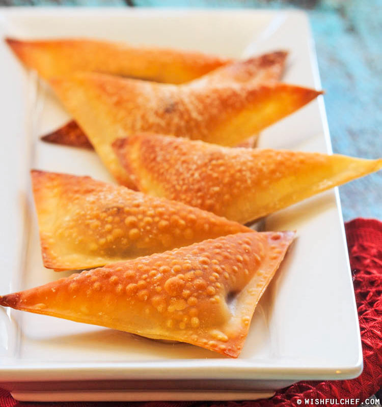 Banana Chocolate Wontons