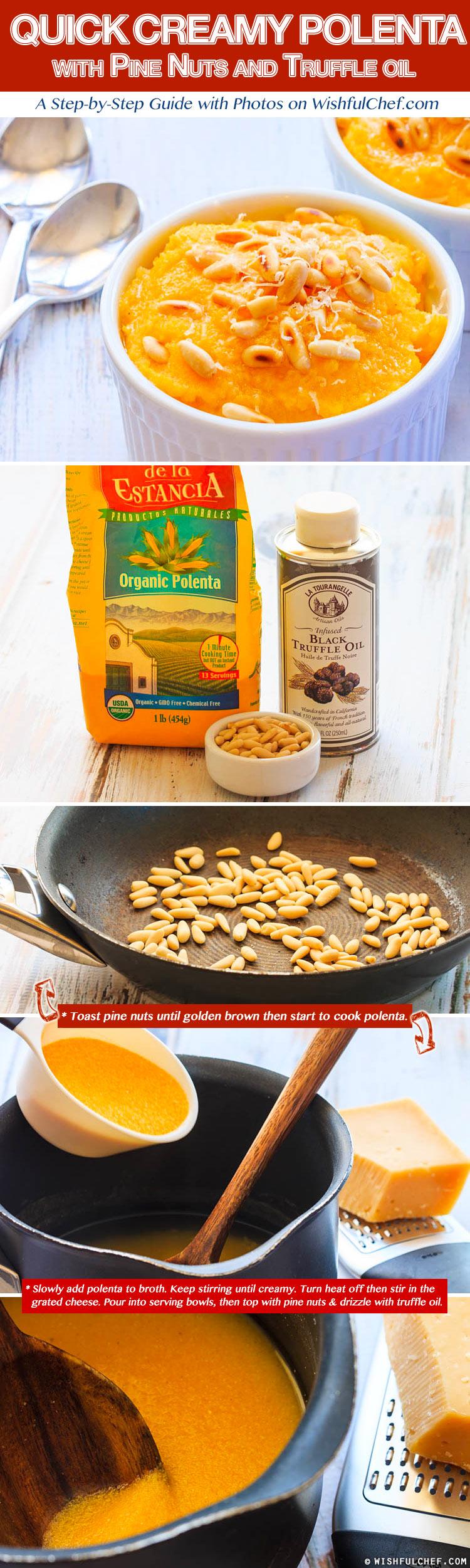 Polenta Pine Nuts Truffle Oil