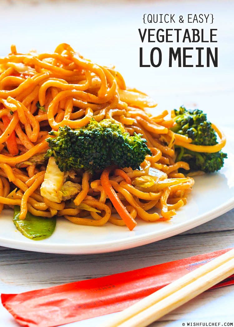 Quick and easy vegetable lo mein wishful chef veggie lo mein have you ever tried cooking forumfinder Images